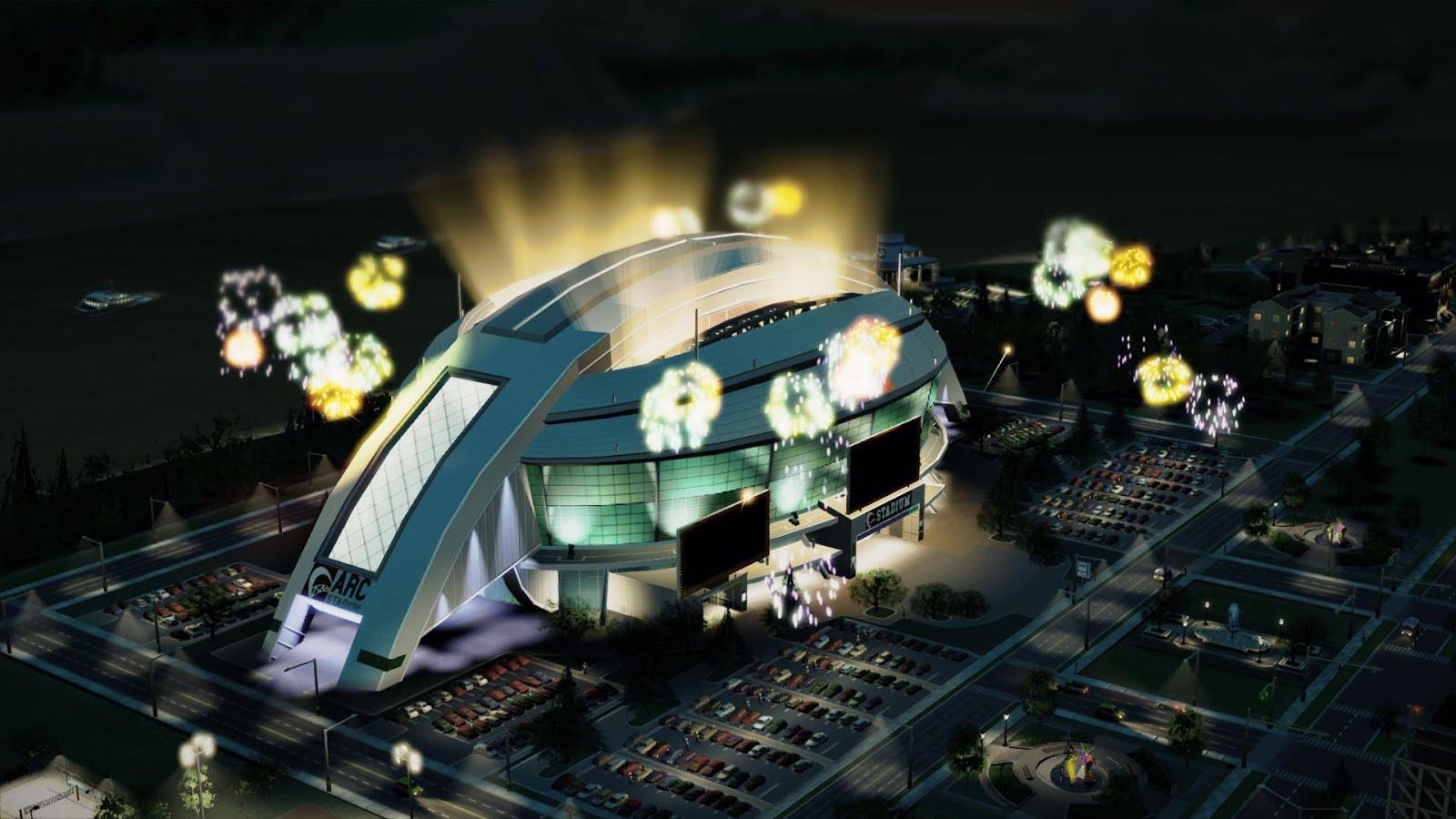 Фото стадиона в игре Сим Сити