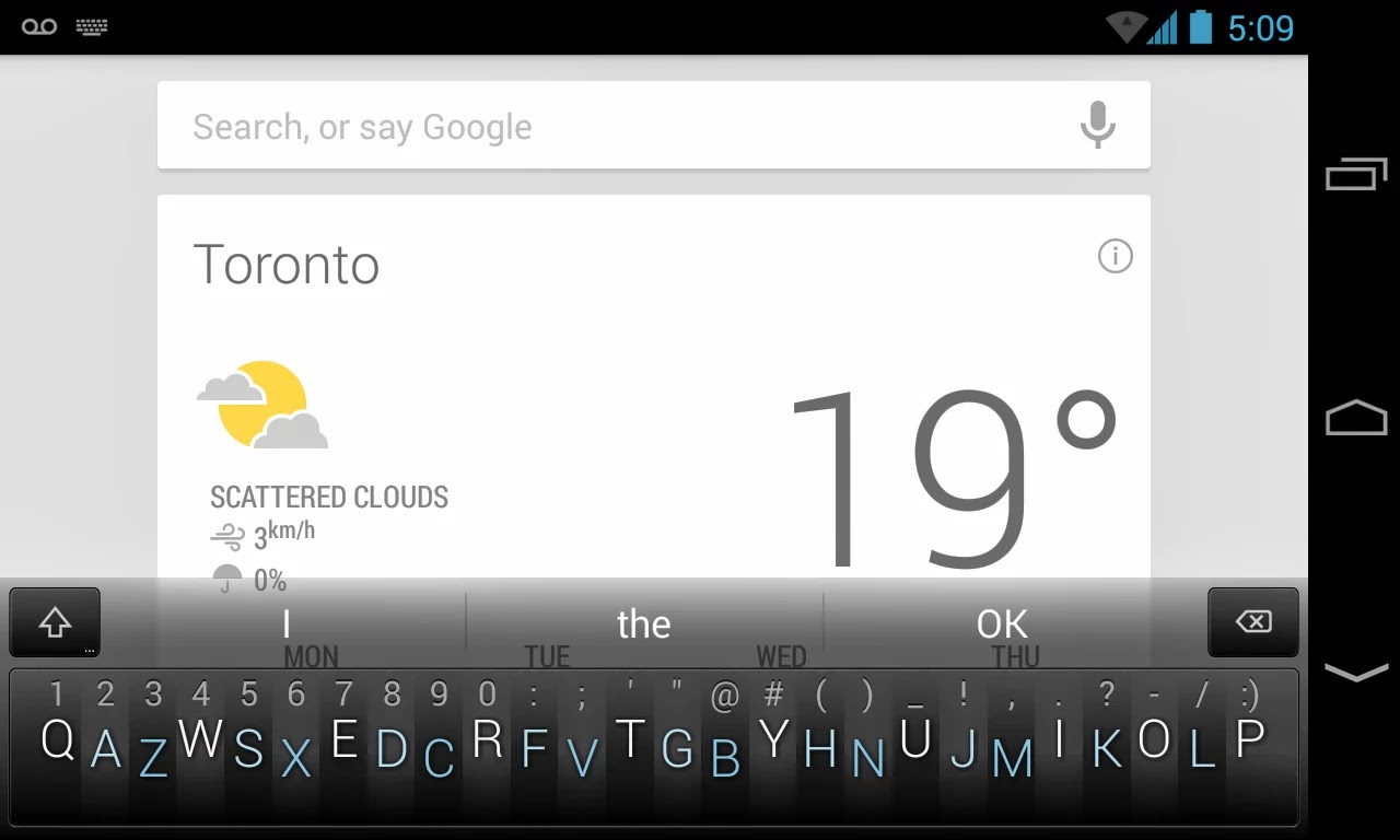 Minuum Keyboard screenshot