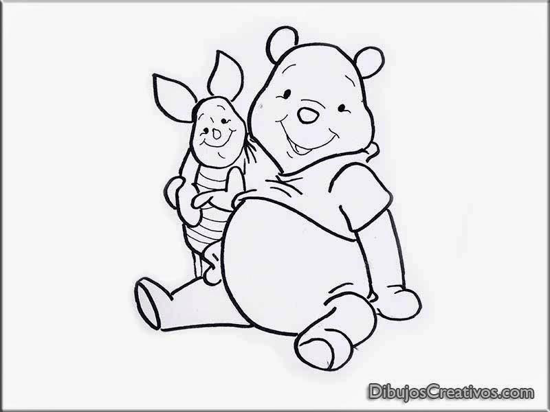 Dibujos para pintar Winnie Pooh con Piglet - Imágenes ...
