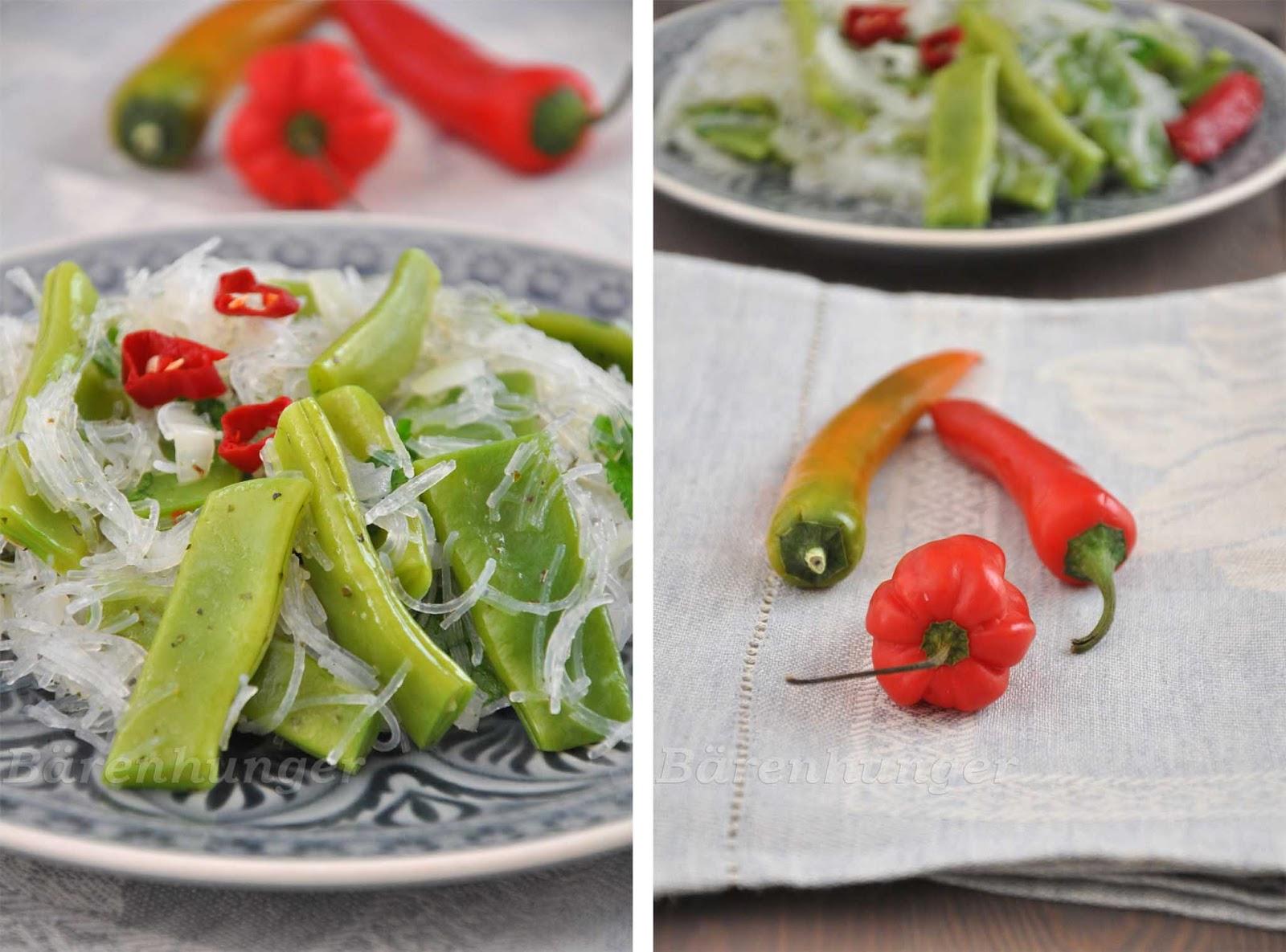 warmer glasnudeln salat mit zuckerschoten b renhunger. Black Bedroom Furniture Sets. Home Design Ideas