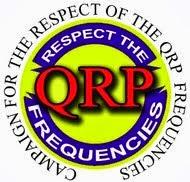 Respeite as frequências QRP