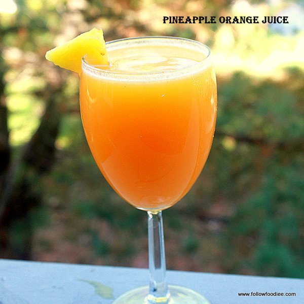 Pineapple Orange juice recipe made at home , Fresh juice recipes