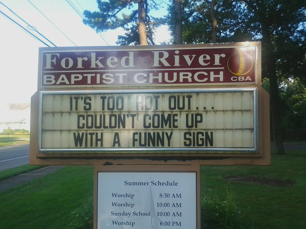 My daily phone pic day 271 a funny church sign