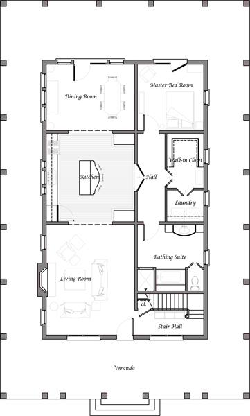 Plano de casa de dos pisos cuatro dormitorios y 241 metros for Dormitorio 10 metros cuadrados