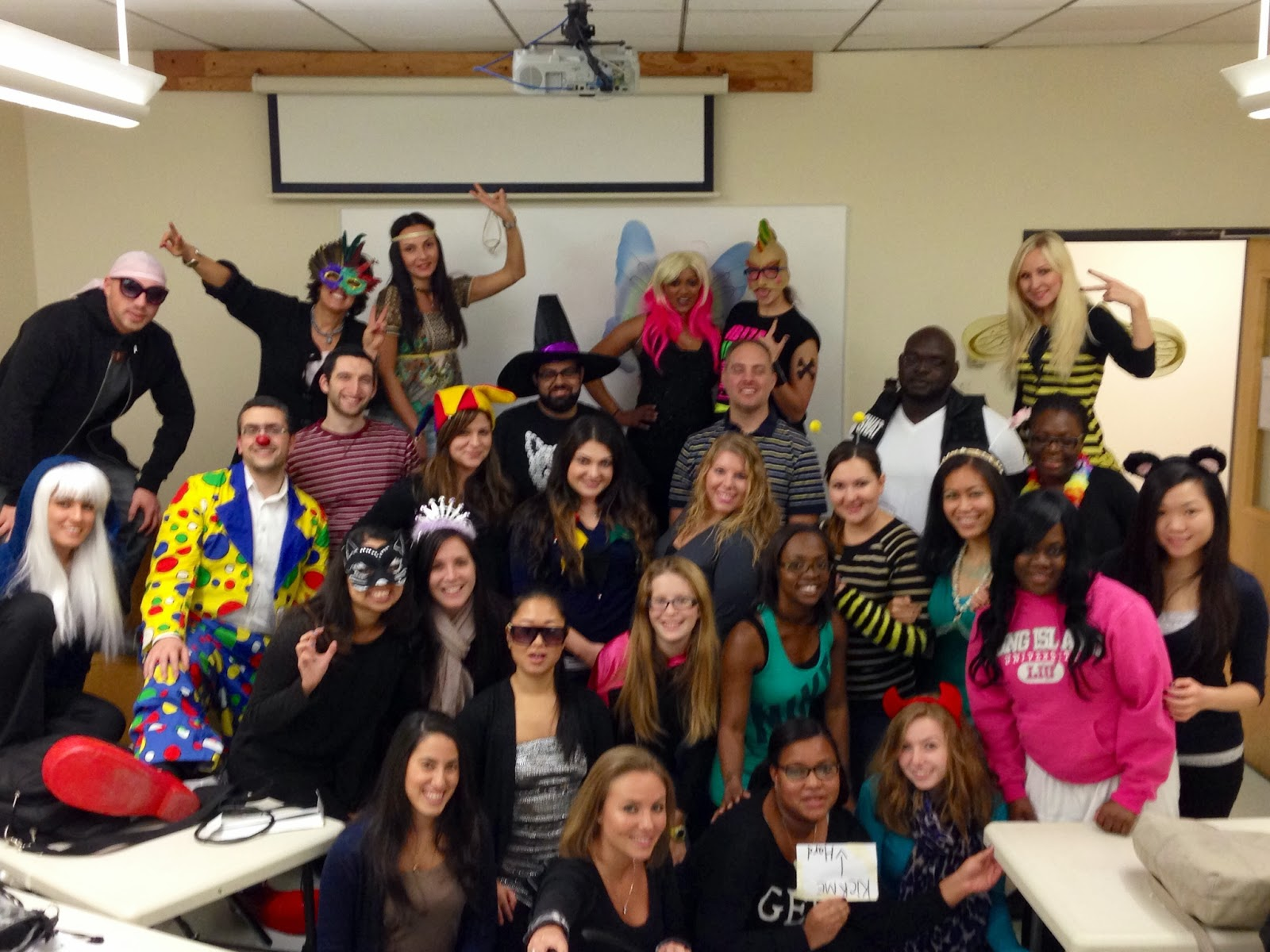The Therapeutic Resources Blog: OT Class of 2014 at LIU Halloween ...