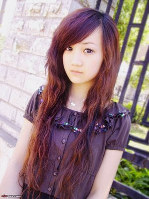 trends hairstyle haircuts 2013 asian red brown silky