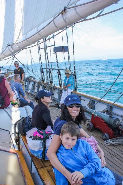grandma and owen aboard the californian