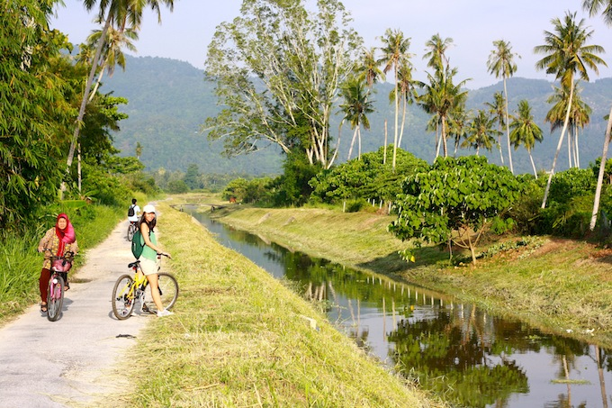 biking in balik pulau penang