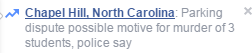 Facebook Chapel Hill terrorist news parking