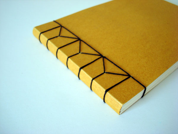 Japanese Paper Book Cover : Little black book binding
