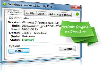 descargar gratis activador windows 7 loader