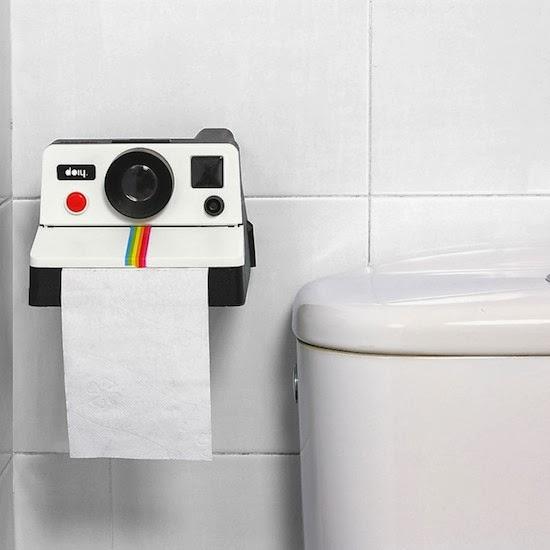 Portarollos de papel higiénico Polaroid. Polaroll.