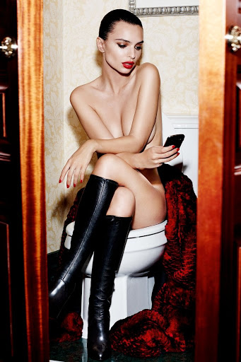 Emily Ratajkowski topless photos GQ UK Magazine September 2015 photoshoot