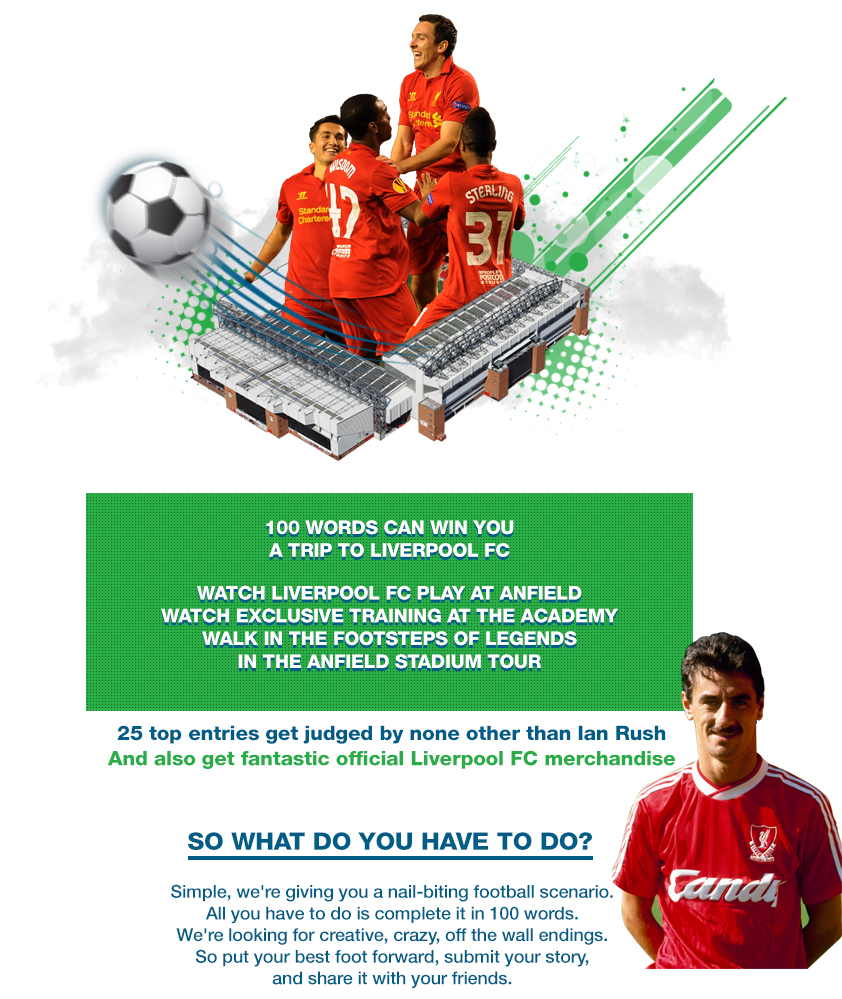 Contest !! Most Fan Win Cool official Liverpool FC merchandise !! Standard Chartered Bank India