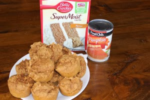 Pumpkin Muffins made with cake mix