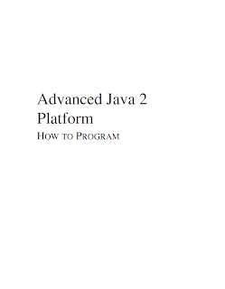 Advanced Java 2 Platform hot to program By Dietel Mediafire ebook
