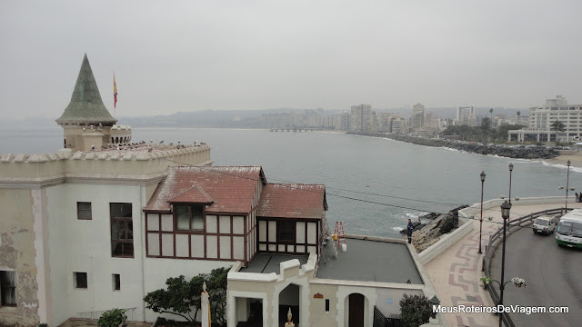 Vista do mirante do Castelo Wulff -  Viña del Mar, Chile