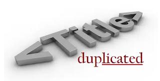 Trik Mengatasi Duplicate Title Tags