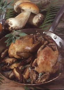 PIGEONNEAU aux CEPES et POLENTA aux truffes