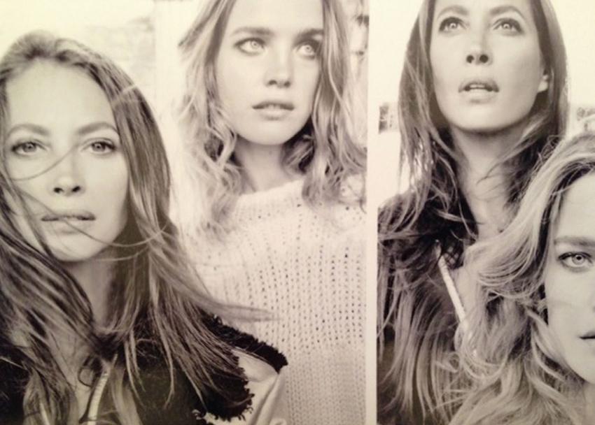 foto Sasha Pivovarova, Fei Fei Sun Anais Mali by Patrick Demarchelier for Vogue February 2014 modern collection