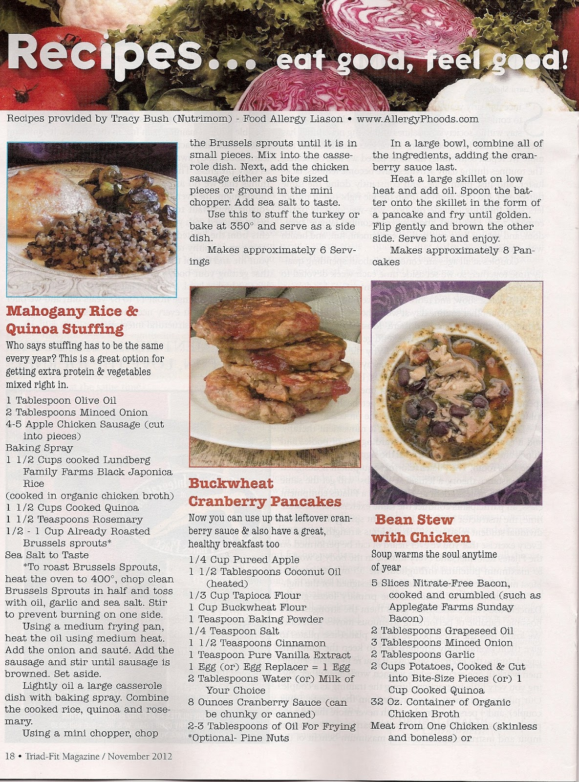 Nutrimom food allergy liasons blog allergyphoods nutrimoms i am pleased to share the news with you that i have been offered a recipe column in the newest local magazine triad fit this months issue has six great forumfinder Image collections