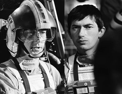 Photo of two different actors who played Wedge Antilles.