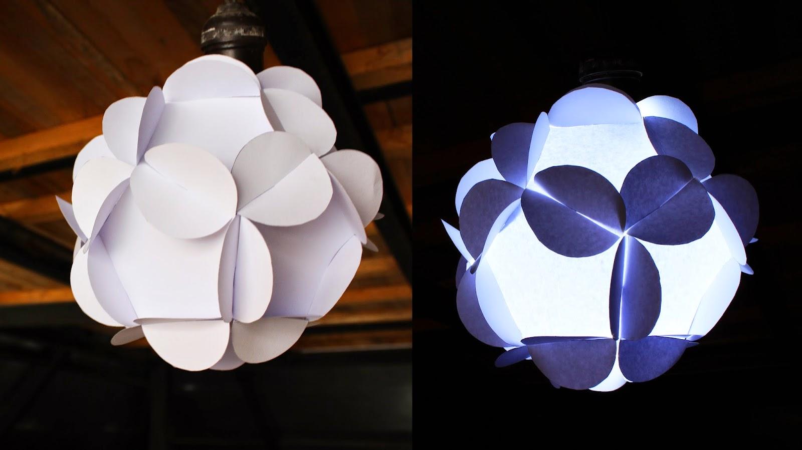 Jeguridos crafts como hacer lampara de papel 12 piezas - Lamparas de pie de papel ...