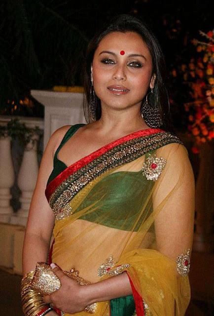 Rani Mukherjee hot Saree Photos