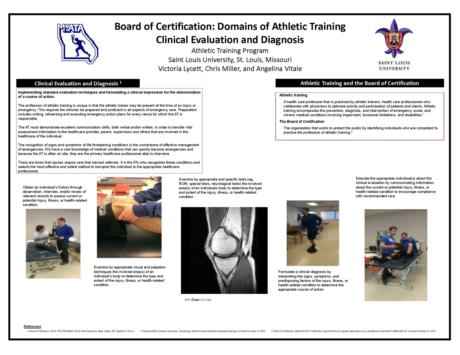 Saint louis university athletic training program march 2013 click on specific poster to view enlarged version 1betcityfo Choice Image
