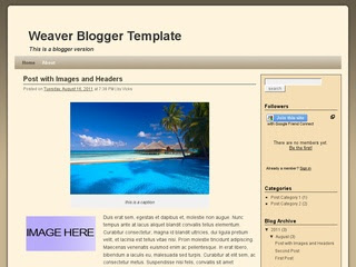 Weaver Blogger Template