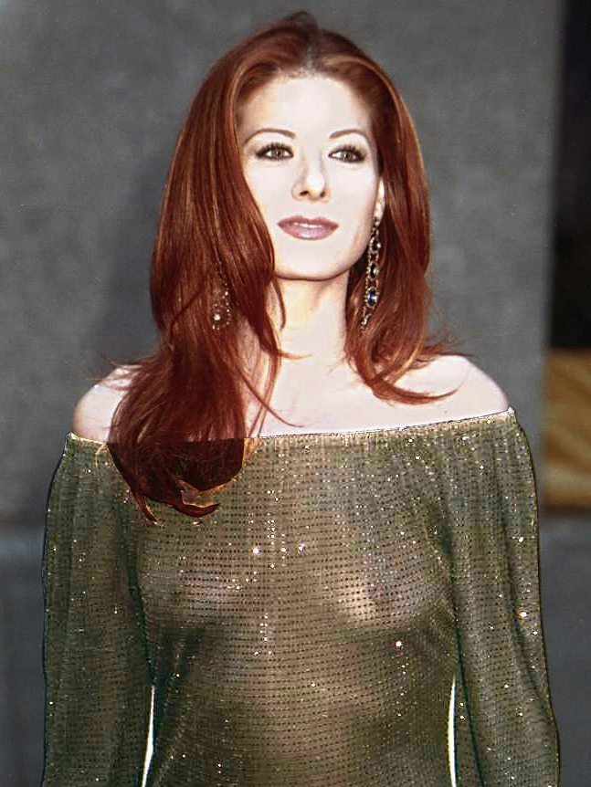 Slip debra messing nipple
