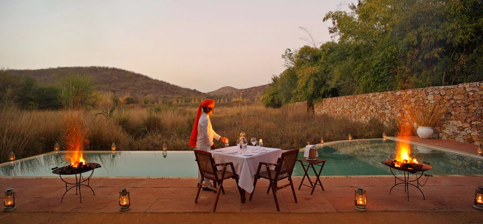 The Outdoor Pool, Sujan Sher Bagh, Ranthambore