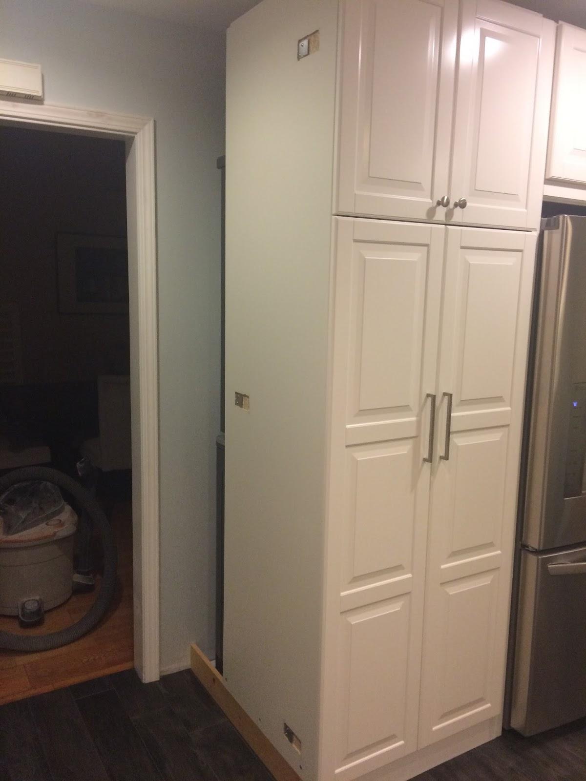 The Allison's First Home: Washer Dryer Ikea Kitchen CabiHack