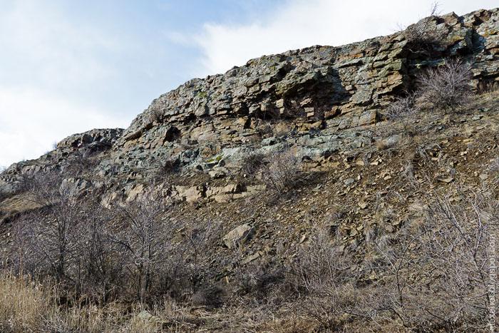 Скалы в балке Малой Чеканной
