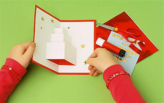 Real estate powerful handmade christmas card 6 craft ideas for Handmade things step by step