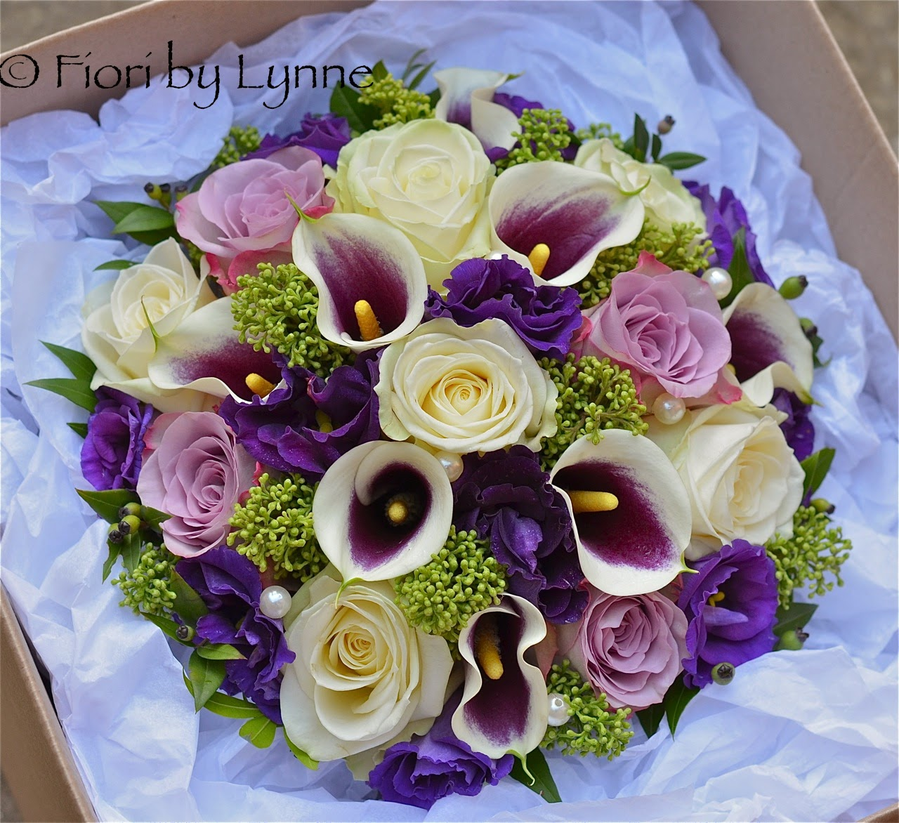 Wedding Flowers Blog Andreas Autumn Purple Ivory Green Wedding
