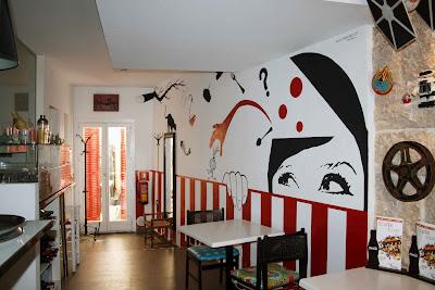 Pintura mural arte en pared y murales decorativos en zaragoza huesca y teruel muralyart - Decorar un bar de tapas ...