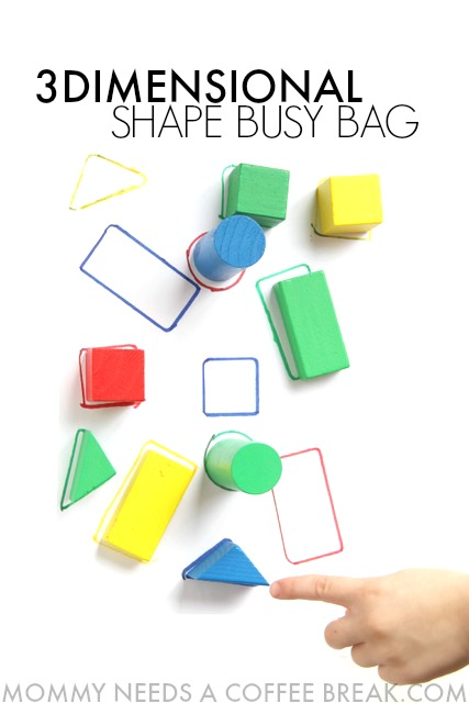 3D Shape puzzle busy bag for kindergarteners