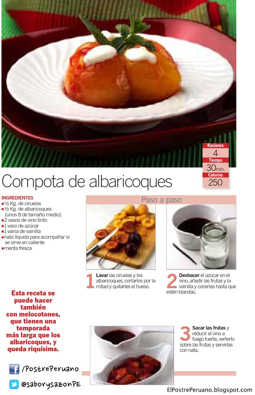 COMPOTA DE ALBARICOQUE