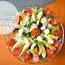 Wyzwanie Letni Jadłospis- lekka sałatka z mozarellą, pomidorkami koktajlowymi i dressingiem