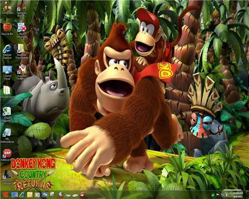Donkey Kong Theme Windows 7 Sudut Buku