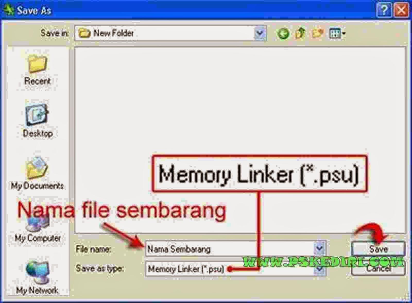 Membuat File PSU Memory Linker