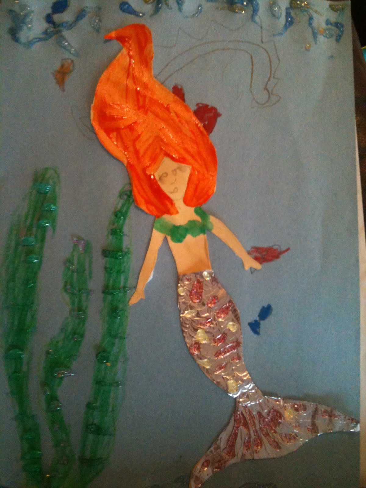 journal of a young mother mermaid craft for kids