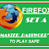 How to set a username and master Password in Mozilla Firefox