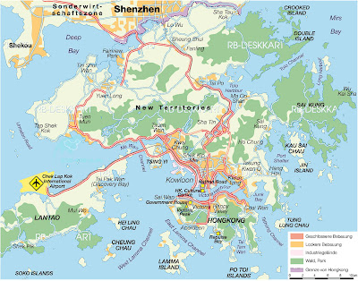 Map of Hong Kong SAR China