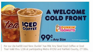 Dunkin' Donuts: 99¢ Any Sized Iced Coffee or Iced Tea