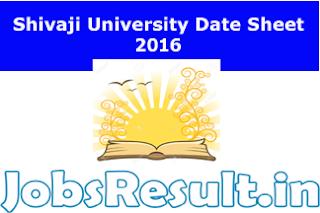 Shivaji University Date Sheet 2016