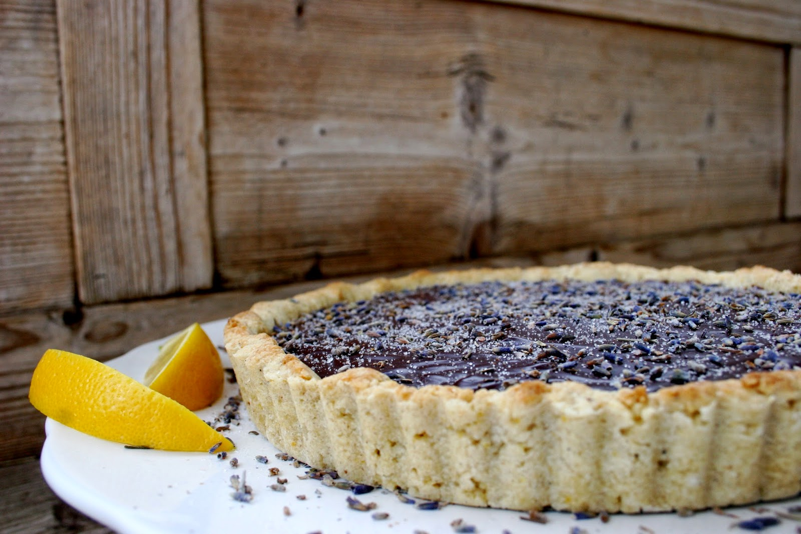 Nothing in the House: Dark Chocolate Lavender Tart with a ...