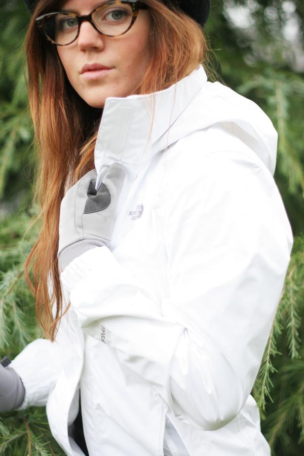 Womens white winter coat