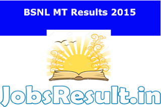 BSNL MT Results 2015